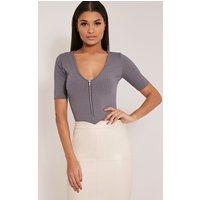 cira-grey-ribbed-zip-front-v-neck-bodysuit-grey