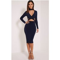 nadeena-navy-neck-detail-cut-out-midi-dress-navy