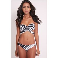 Kira Monochrome Stripe Multiway Bikini, Blue
