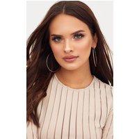 Dannie Rose Gold Hoop Earrings, Rose Gold