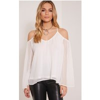 zeta-white-cold-shoulder-chiffon-top-white