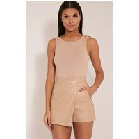 chlo-taupe-faux-leather-skort-taupe