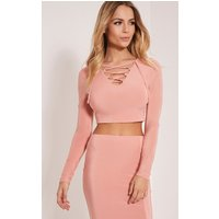 ameria-blush-lace-up-front-crop-top-rose