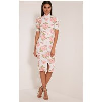 sana-white-rose-print-midi-dress-white