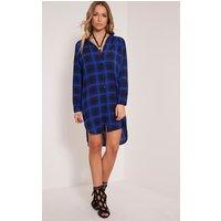 ronah-cobalt-checked-shirt-dress-cobalt