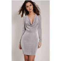 rona-grey-cowl-neck-bodycon-dress-grey