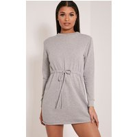 demmi-grey-tie-waist-sweater-dress-grey