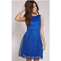 PrettyLittleThingLovette Cobalt Fishnet Party Dress, Blue