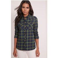 rosanna-green-checked-shirt-green