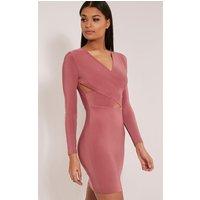 tamaya-rose-long-sleeve-cross-front-bodycon-dress-rose