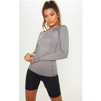 Charcoal Long Sleeved Gym Top