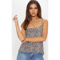 Black Leopard Print Cami Top