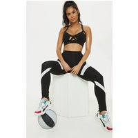 Black Marble Panel Gym Leggings