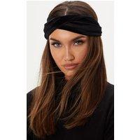 Black Velvet Knot Headband