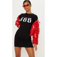 Black 666 High Neck Bodycon Dress