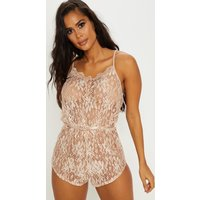 Champagne Lace Teddy
