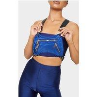 Blue Nylon Messenger Harness Bag
