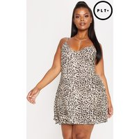 Plus Brown Leopard Swing Dress