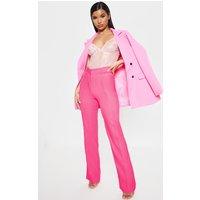 Anala Pink High Waisted Straight Leg Trousers