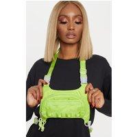 Lime Nylon Mini Utility Front Bag