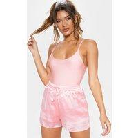 Baby Pink Metallic Drawstring Waist Short