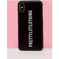 PRETTYLITTLETHING Black Logo 7 Plus iPhone Case, Black