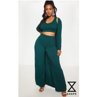 Shape Emerald Green Ribbed Duster Jacket