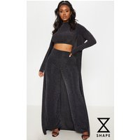 Shape Black Lurex Maxi Duster Jacket