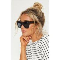 Quay Australia Black After Hours Oversized Sunglasses, Black