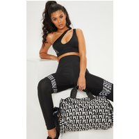 Prettylittlething Black Mono Duffle Bag