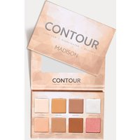 Madison Makeup Contour Highlighter Palette, White