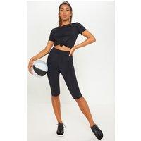 Black Basic 3/4 Gym Legging