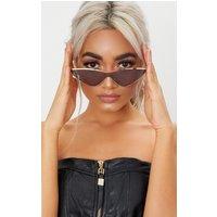 Black Extreme Cat Eye Sports Sunglasses