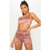 Copper Contrast Stitch Cycling Short