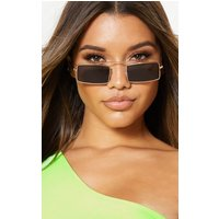 Black Lens Square Frame Sunglasses