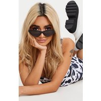 Black Animal Cat Eye Retro Sunglasses