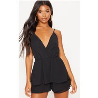 Black Frill Layer Playsuit