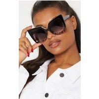 Black Half Tortoiseshell Oversized Sunglasses