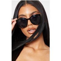 Black Gold Frame Large Cat Eye Sunglasses