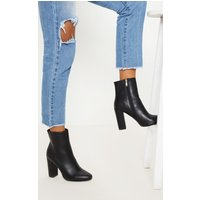 Behati Black Faux Leather Ankle Boot