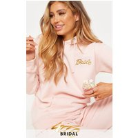 Blush Bride Slogan Oversized Hoodie