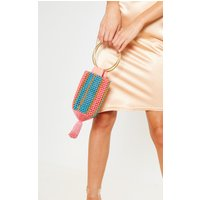 Turquoise And Coral Beaded Tassel Ring Grab Bag