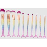 Rainbow 10 Pack Make Up Brushes, Multi