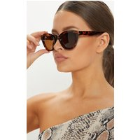 Brown Tortoiseshell Oversized Cat Eye Frame Sunglasses