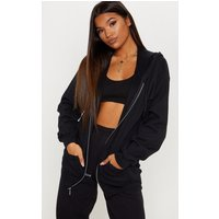 Black Fleece Zip Up Hoodie