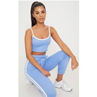 Baby Blue Contrast Stripe Joggers