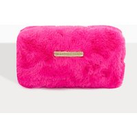 Prettylittlething Fuchsia Faux Fur Makeup Bag