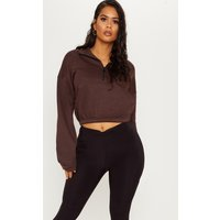 Chocolate Oversized Zip Front Sweater