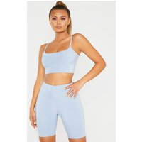 Baby Blue Mix & Match Slinky Cami Crop Top