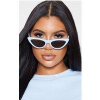 Baby Blue Retro Cat Eye Sunglasses